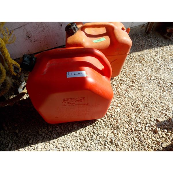 Pair of Plastic Jerry Fuel Containers