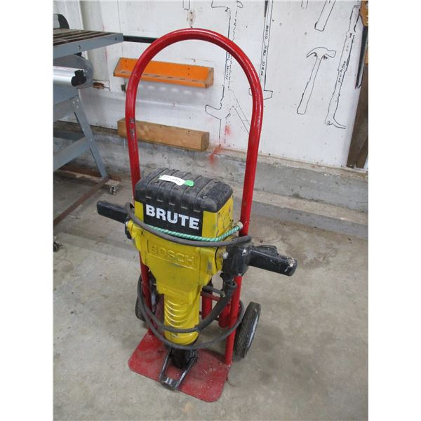 Bosch Brute concrete hammer with cart