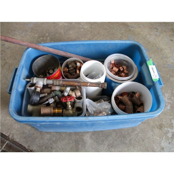 Tub with copper related items