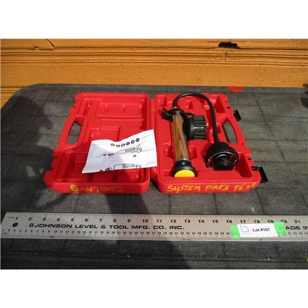 cooling system pressure test kit in case