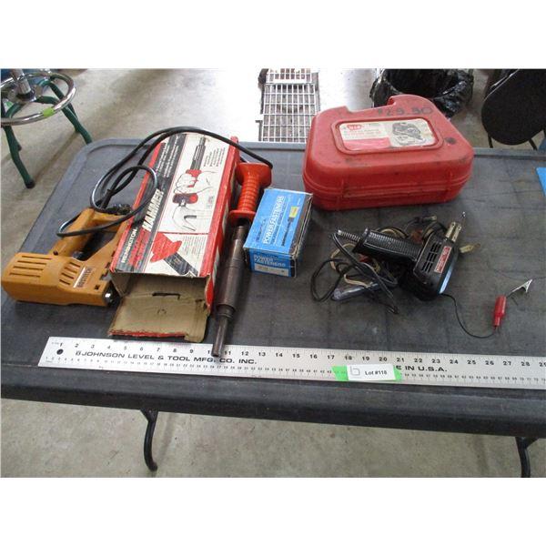 Soldering gun, power hammer, electric bostich stapler