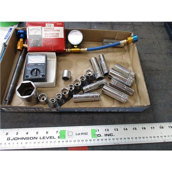 sockets, multi-testers
