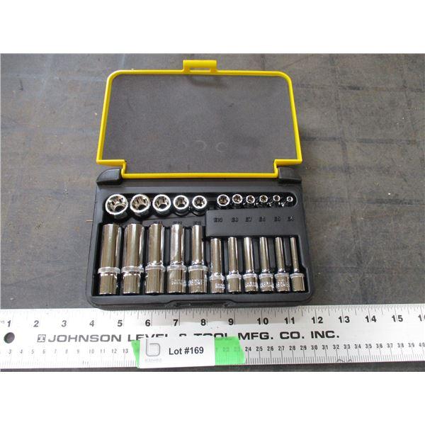 Powerfist metric sockets in case