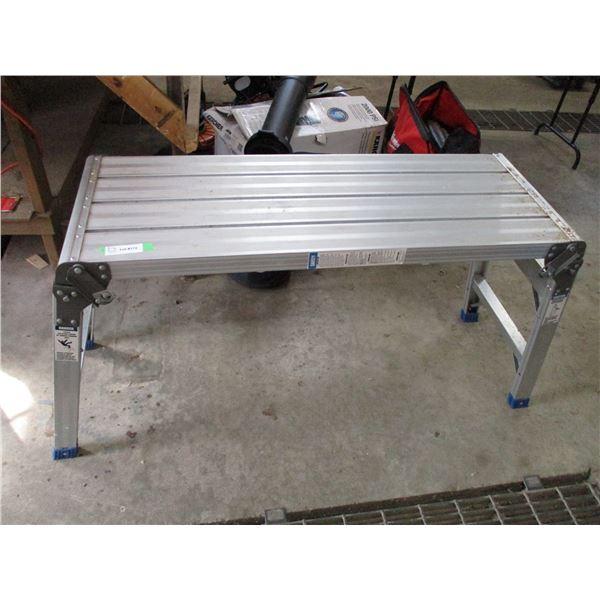 "aluminum stand folding (42""x15""x28H)"
