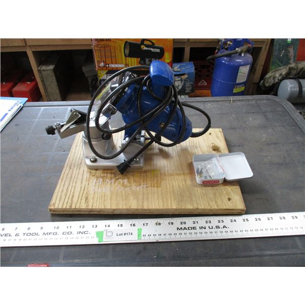 powerfist electric chain saw sharpener (working)