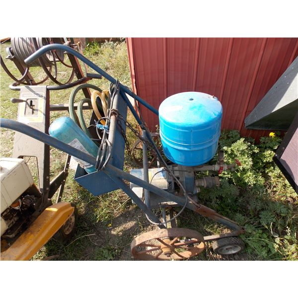 Custom Two-Wheeled Water Pump Cart