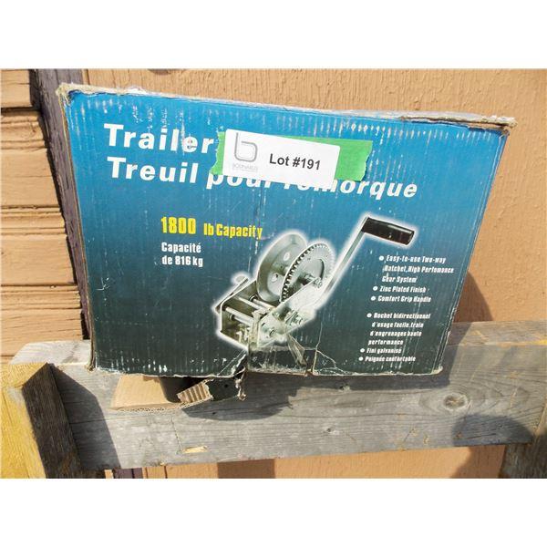Trailer winch 1800 LB capacity NEW in box