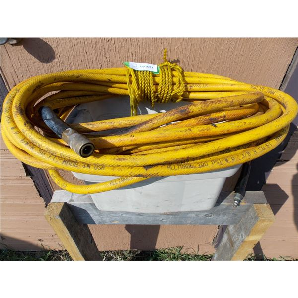 Roll of Air Hose and Hydraulic Line
