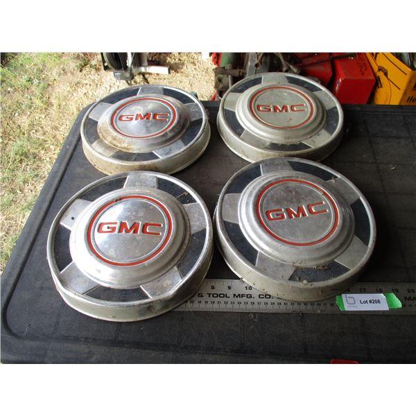 (4) Vintage GMC Hubcaps