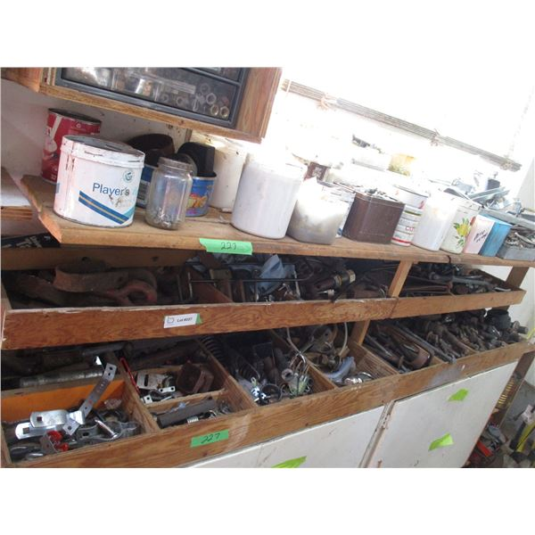 Lot of misc bolts, clamps, hinges