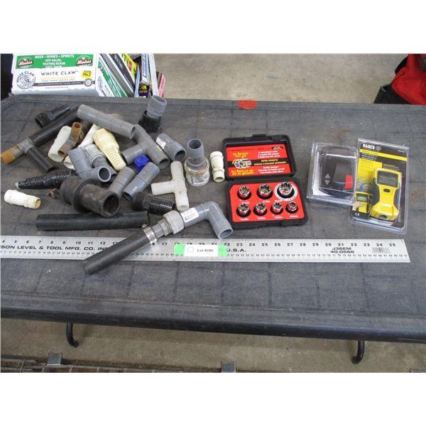 LAN Scout Jr. Tester, Pipetite metric sockets, brake control, misc