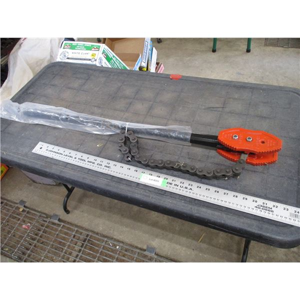 """38"""" long Rigid Chain Pipe Wrench"""
