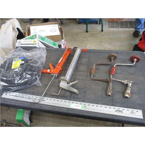 """3/4"""" split loom hose, vintage hand tools, caulking guns"""
