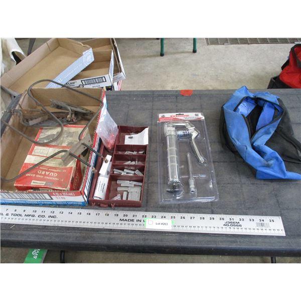 shaft keys, mini grease gun + misc