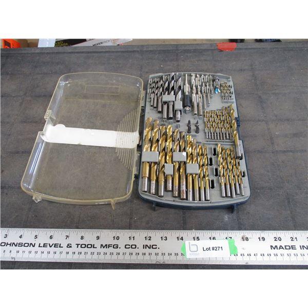 drill bit set in case