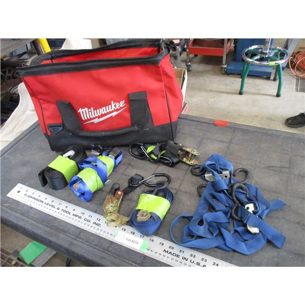Tie Downs with Milwaukee bag