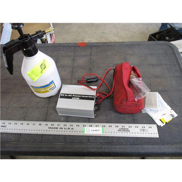400Watt Power Inverter, 1.5L Handheld sprayer, emergency kit