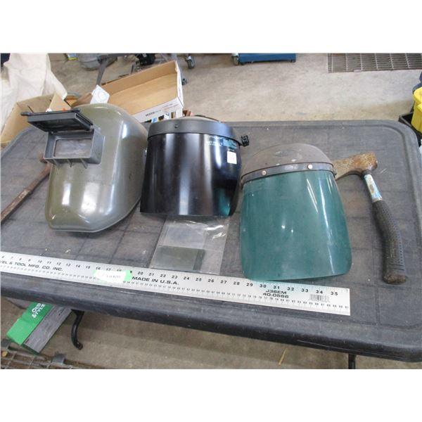 welding helmet, safety shields, misc