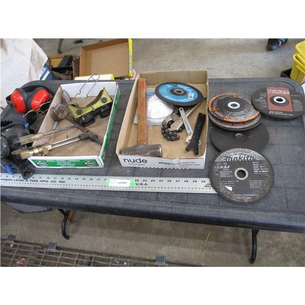 Grinding wheels, welding related + misc
