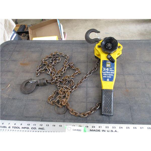 Powerfist 3/4 ton chain hoist
