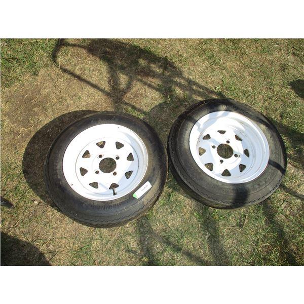 2X The Money - trailer tires + rims 4.8-12 4 bolt