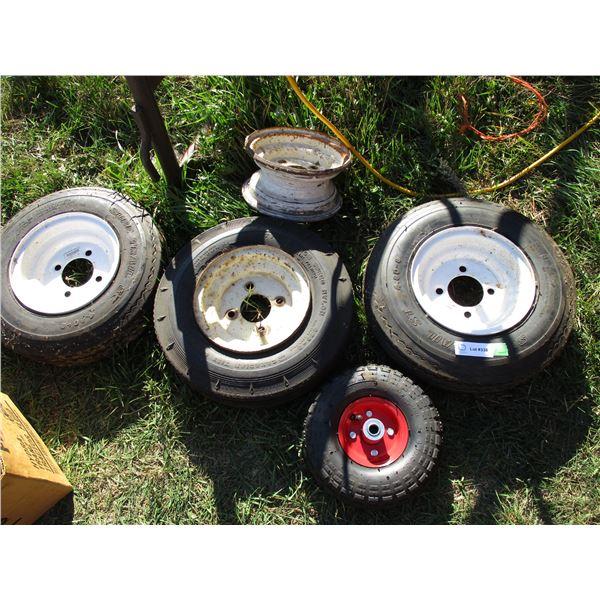 4 tires + rims plus 1 rim