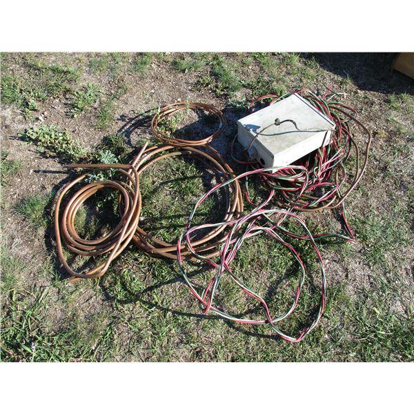 Breaker Box, wire, Coper tubing