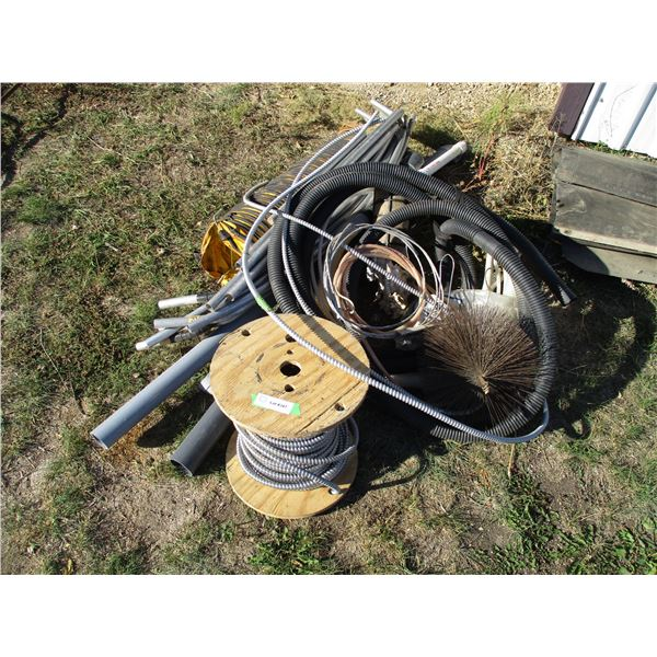 Chimney Sweep, hoses, electrical wire + misc