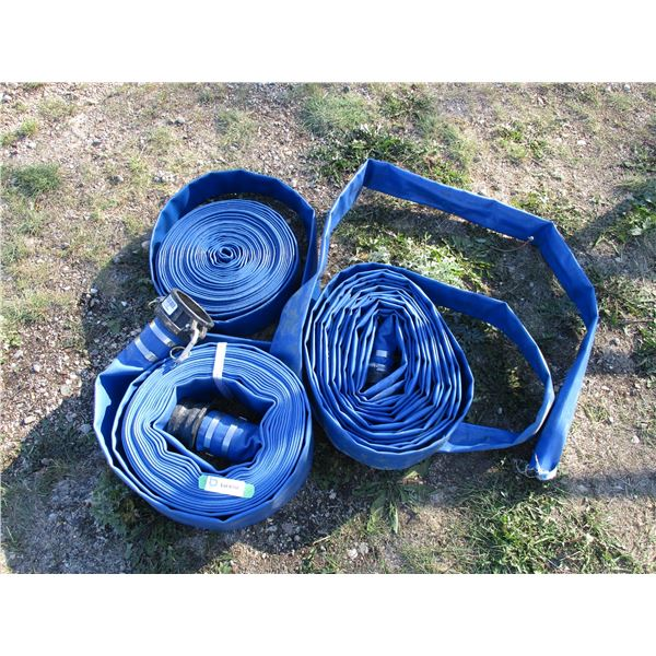 Water hose - one with couplers 3in (3) blue