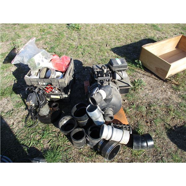 3.5HP Briggs & Stratton Water Pump with plastic fitting, sump pump + misc