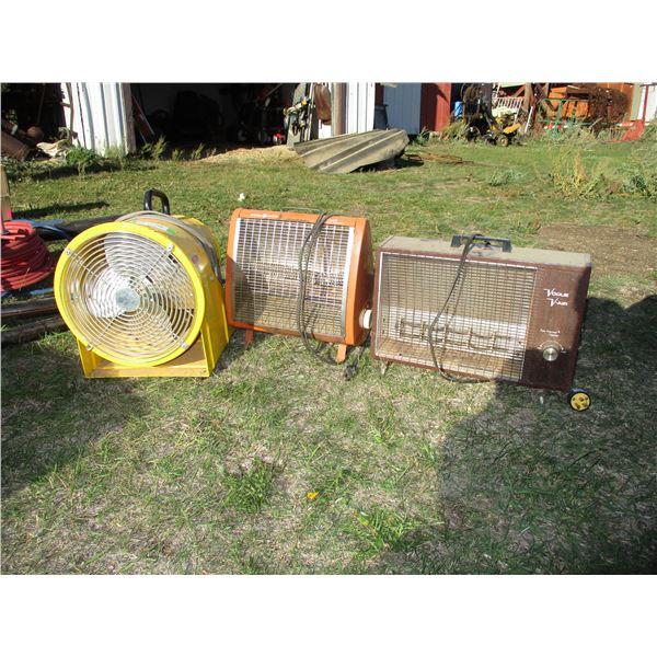 2 heaters + a fan