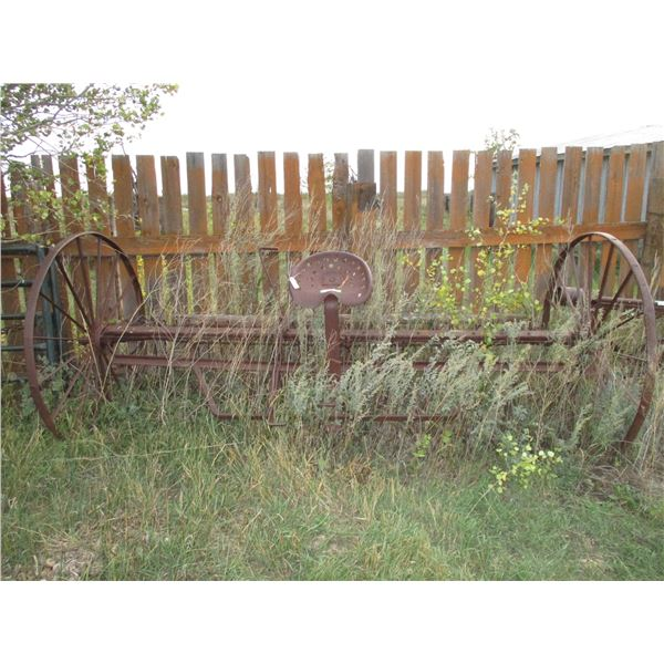 vintage horse rake