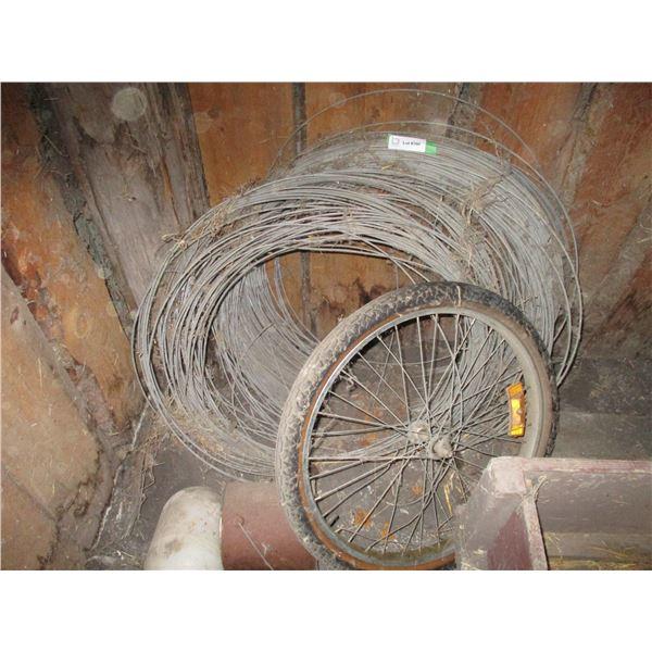 electric wire, bike tire