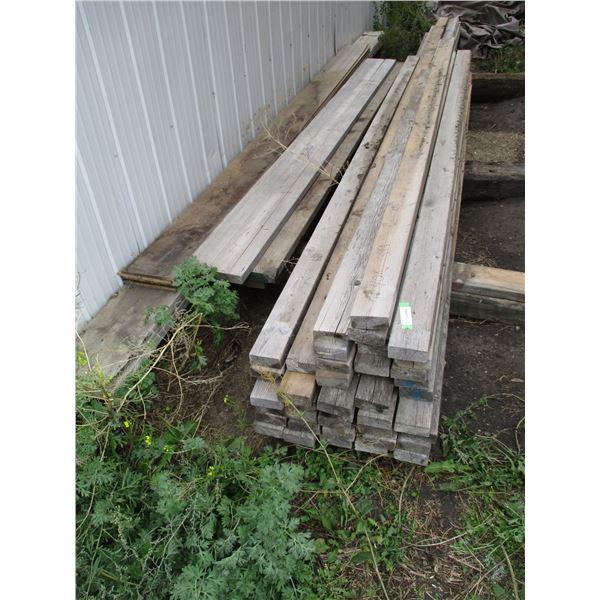 "Misc Lumber (40) 2x4, 2x8 + other - 93""-16ft longest"