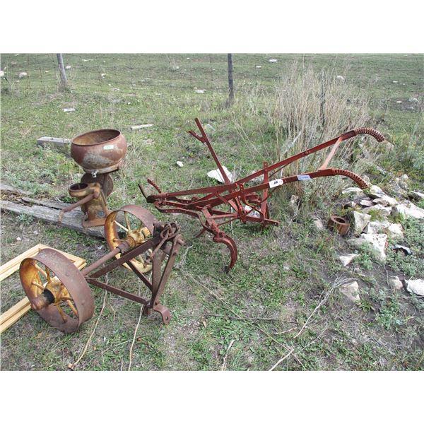 cream separator, walk behind plow, set of metal wheels