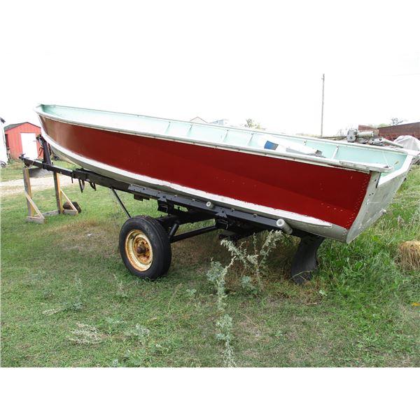 16ft aluminum boat, heavy duty trailer (no lights)