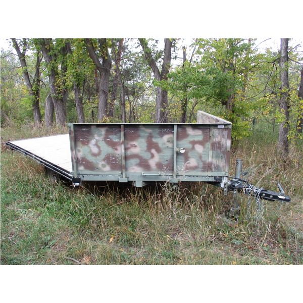 """flat deck trailer  16ft with hitch 101"""" wide - Canada customs trailers  2012 VIN 2N9BS2110CS041138"""