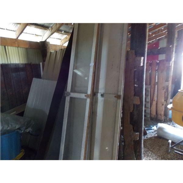 """wooden three piece door set with hardware (19"""" wide x 9' long)"""