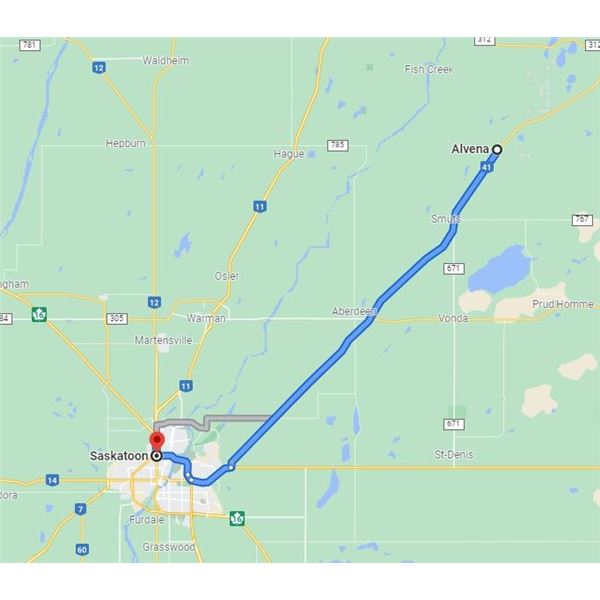 THE FOLLOWING LOTS ARE LOCATED IN ALVENA, SK (HIGHWAY 41) - PICKUP