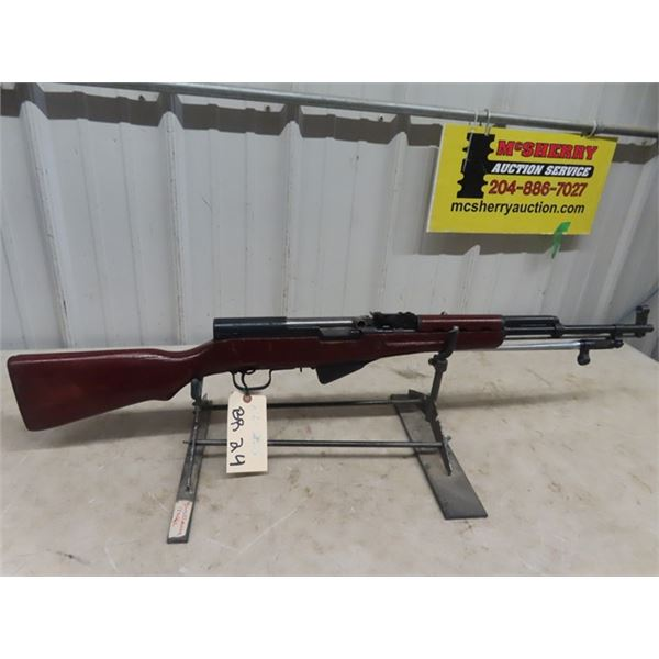 """Chinese SKS SA 7.62 x 39 MM BL=20"""" S# 0141-733239 Folding Bayonet, Clean Rifle, Some Rust On Butt Pl"""