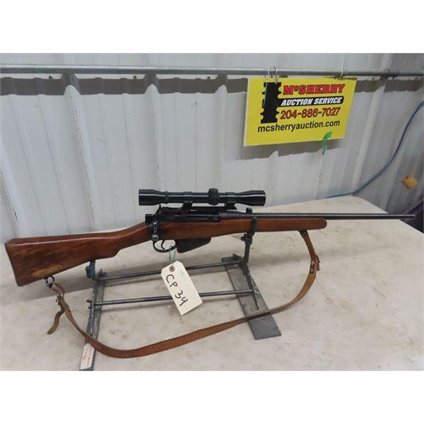 "Long Branch No 4 Mk 1 (1943) BA 303 BL= 21"" S#33L2217 One Mag Weaver 4X Scope, Barrel Cut to 21"" No"