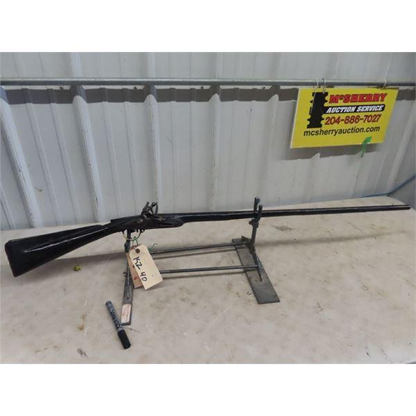 "East India Co Flintlock Trade Rifle North Africa Muzzle Loader 50 Cal BL=33"" Circa 1800's Camel Gun,"