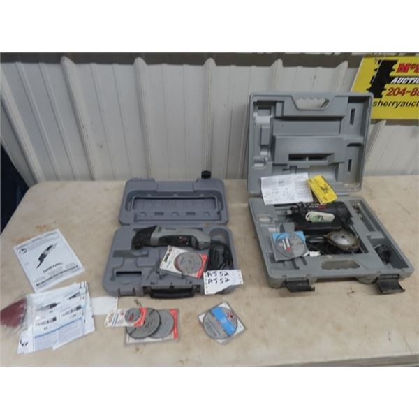 Roto Zip Power TOol & Dremel Both w Cases & Accessories