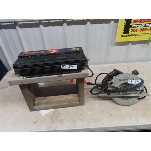 1750 WATT Eleminator Inverter & Super Sawcat Circ Saw