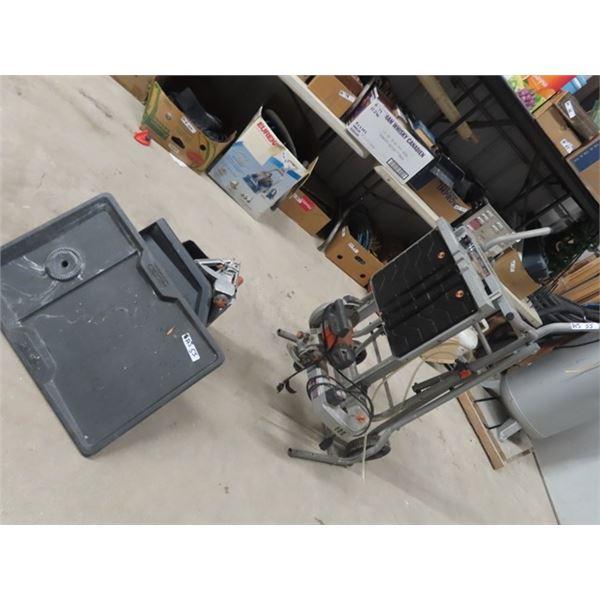Ridgid Power TIle Saw W Portable Cart Stand/Combo
