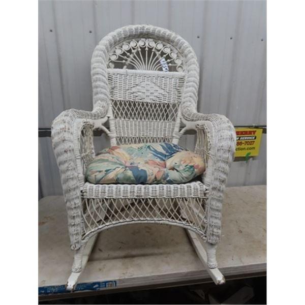 Peacock Wicker Rocking Chair
