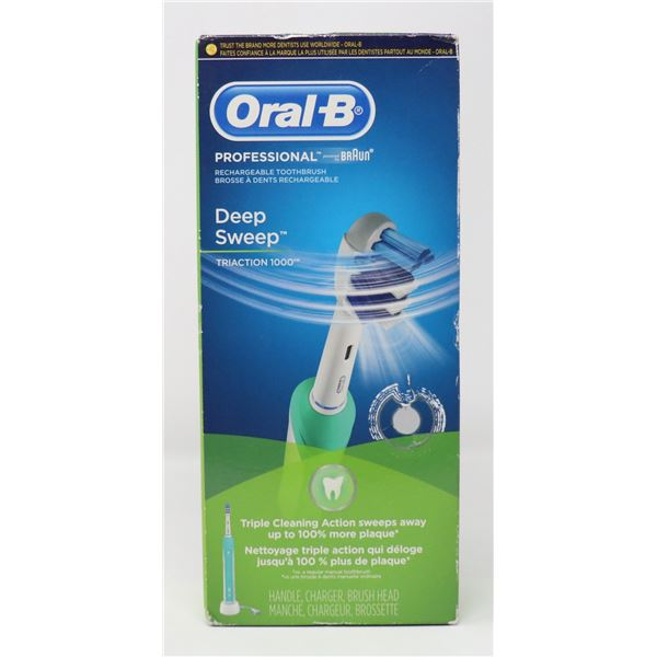 ORAL-B PRO DEEP SWEEP RECHARGEABLE TOOTHBRUSH