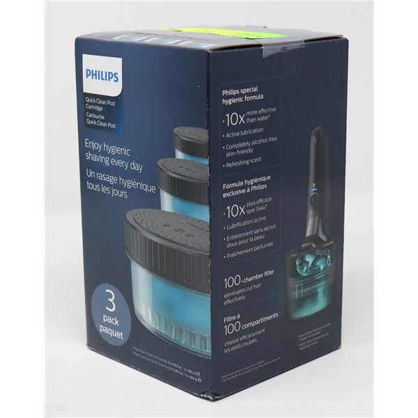 PHILIPS QUICK CLEAN POD CARTRIDGE 3 PACK