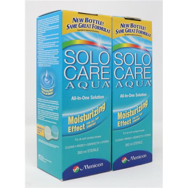 2 BOXES OF SOLO CARE AQUA ALL-IN-ONE SOLUTION