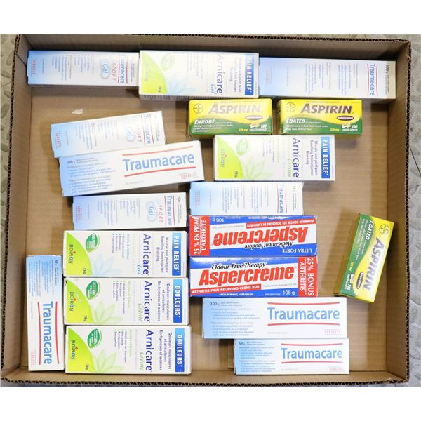 FLAT LOT OF ASSORTED JOINT/MUSCLE PAIN RELIEF